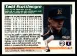 1995 Topps Traded #51 T Todd Stottlemyre  Back Thumbnail
