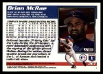 1995 Topps Traded #26 T Brian McRae  Back Thumbnail