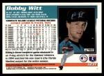 1995 Topps Traded #123 T Bobby Witt  Back Thumbnail