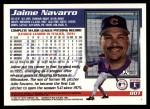 1995 Topps Traded #80 T Jaime Navarro  Back Thumbnail