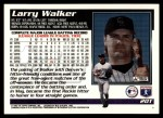 1995 Topps Traded #20 T Larry Walker  Back Thumbnail
