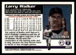 1995 Topps Traded #20 T Larry Walker  Back Thumbnail