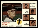 1973 Topps #252 BRN  -  Charlie Fox / Joe Amalfitano / Andy Gilbert / Don McMahon / John McNamara Giants Leaders Front Thumbnail