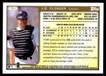 1999 Topps Traded #21 T J.D. Closser  Back Thumbnail
