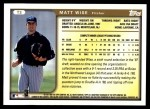 1999 Topps Traded #3 T Matt Wise  Back Thumbnail