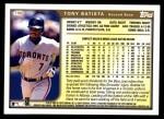 1999 Topps Traded #100 T Tony Batista  Back Thumbnail