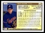 1999 Topps Traded #26 T Matt Blank  Back Thumbnail