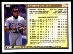 1999 Topps Traded #116 T David Segui  Back Thumbnail