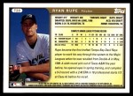 1999 Topps Traded #20 T Ryan Rupe  Back Thumbnail