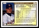 1999 Topps Traded #43 T Bryan Wolff  Back Thumbnail