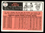 1966 Topps #461  Roy Face  Back Thumbnail