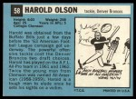 1964 Topps #58  Harold Olson  Back Thumbnail
