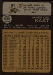 1973 Topps #530  Jim Kaat  Back Thumbnail