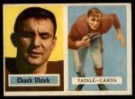 1957 Topps #136  Chuck Ulrich  Front Thumbnail