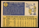 1970 Topps #104  Gerry Moses  Back Thumbnail