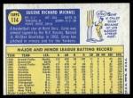 1970 Topps #114  Gene Michael  Back Thumbnail