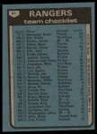1980 Topps #41   -  Pat Corrrales Rangers Team and Checklist  Back Thumbnail