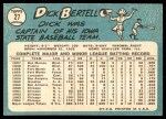 1965 Topps #27  Dick Bertell  Back Thumbnail