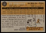 1960 Topps #131   -  Ed Hobaugh Rookie Star Back Thumbnail