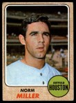 1968 Topps #161  Norm Miller  Front Thumbnail