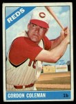 1966 Topps #494  Gordy Coleman  Front Thumbnail