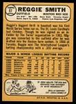 1968 Topps #61  Reggie Smith  Back Thumbnail