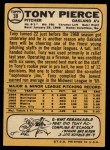 1968 Topps #38  Tony Pierce  Back Thumbnail