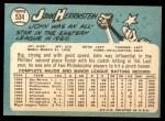 1965 Topps #534  John Herrnstein  Back Thumbnail