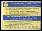 1970 Topps #131   -  Ray Lamb / Bob Stinson Dodgers Rookies Back Thumbnail
