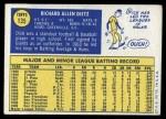 1970 Topps #135  Dick Dietz  Back Thumbnail