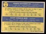 1970 Topps #56   -  Joe Lis / Scott Reid Phillies Rookies Back Thumbnail