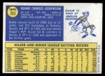 1970 Topps #263  Duane Josephson  Back Thumbnail