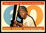 1960 Topps #566   -  Hank Aaron All-Star Front Thumbnail