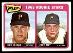 1965 Topps #143   -  Jerry May / John Gelnar Pirates Rookies Front Thumbnail