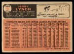 1966 Topps #182  Jerry Lynch  Back Thumbnail