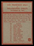 1965 Philadelphia #182   -  Jack Christiansen San Francisco 49ers Back Thumbnail