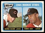 1965 Topps #166   -  Tommie Agee / George Culver Indians Rookies Front Thumbnail