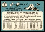1965 Topps #60  Jim O'Toole  Back Thumbnail