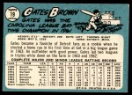 1965 Topps #19  Gates Brown  Back Thumbnail