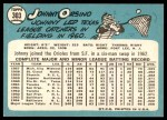 1965 Topps #303  John Orsino  Back Thumbnail