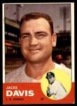 1963 Topps #117  Jacke Davis  Front Thumbnail