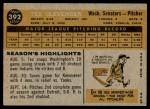 1960 Topps #392  Tex Clevenger  Back Thumbnail