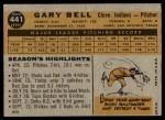 1960 Topps #441  Gary Bell  Back Thumbnail