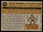 1960 Topps #446  Ellis Burton  Back Thumbnail