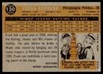 1960 Topps #130   -  Frank Herrera Rookie Star Back Thumbnail