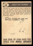 1959 Topps #98   Packers Pennant Back Thumbnail