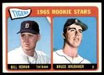 1965 Topps #493   -  Bill Roman / Bruce Brubaker Tigers Rookies Front Thumbnail