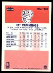 1986 Fleer #19  Pat Cummings  Back Thumbnail