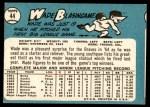 1965 Topps #44  Wade Blasingame  Back Thumbnail