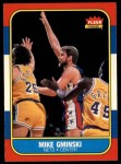 1986 Fleer #38  Mike Gminski  Front Thumbnail